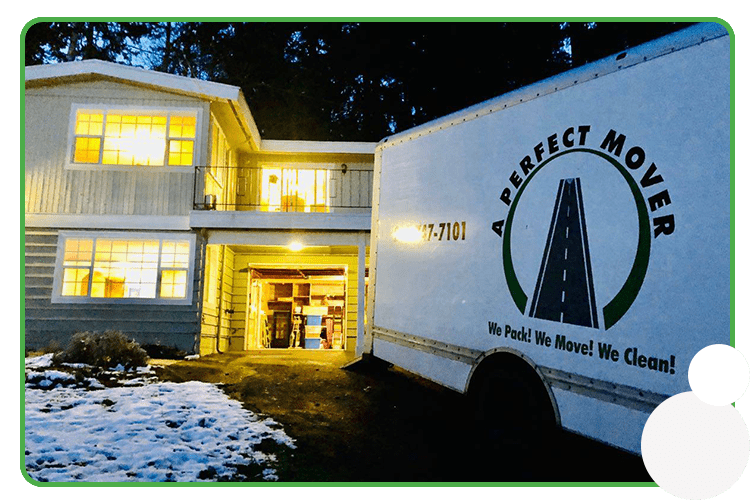 Image: A Perfect Mover truck parked for residential moving services
