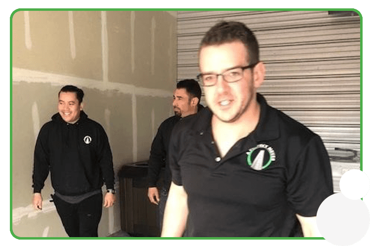 Pictured: A Perfect Mover team on a storage moving job