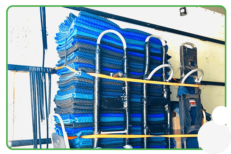 Image: stack of moving pads for commercial moving