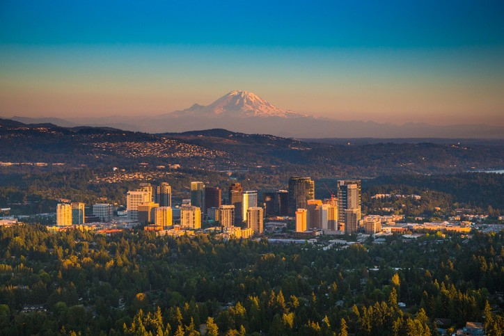 Pictured: the city of Bellevue, WA, home to A Perfect Mover, a moving company