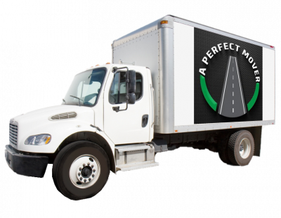 This is a graphic of A Perfect Mover truck logo